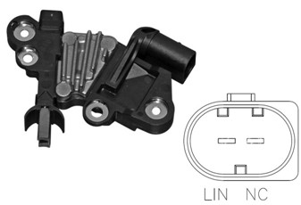 LIN alternator regulator