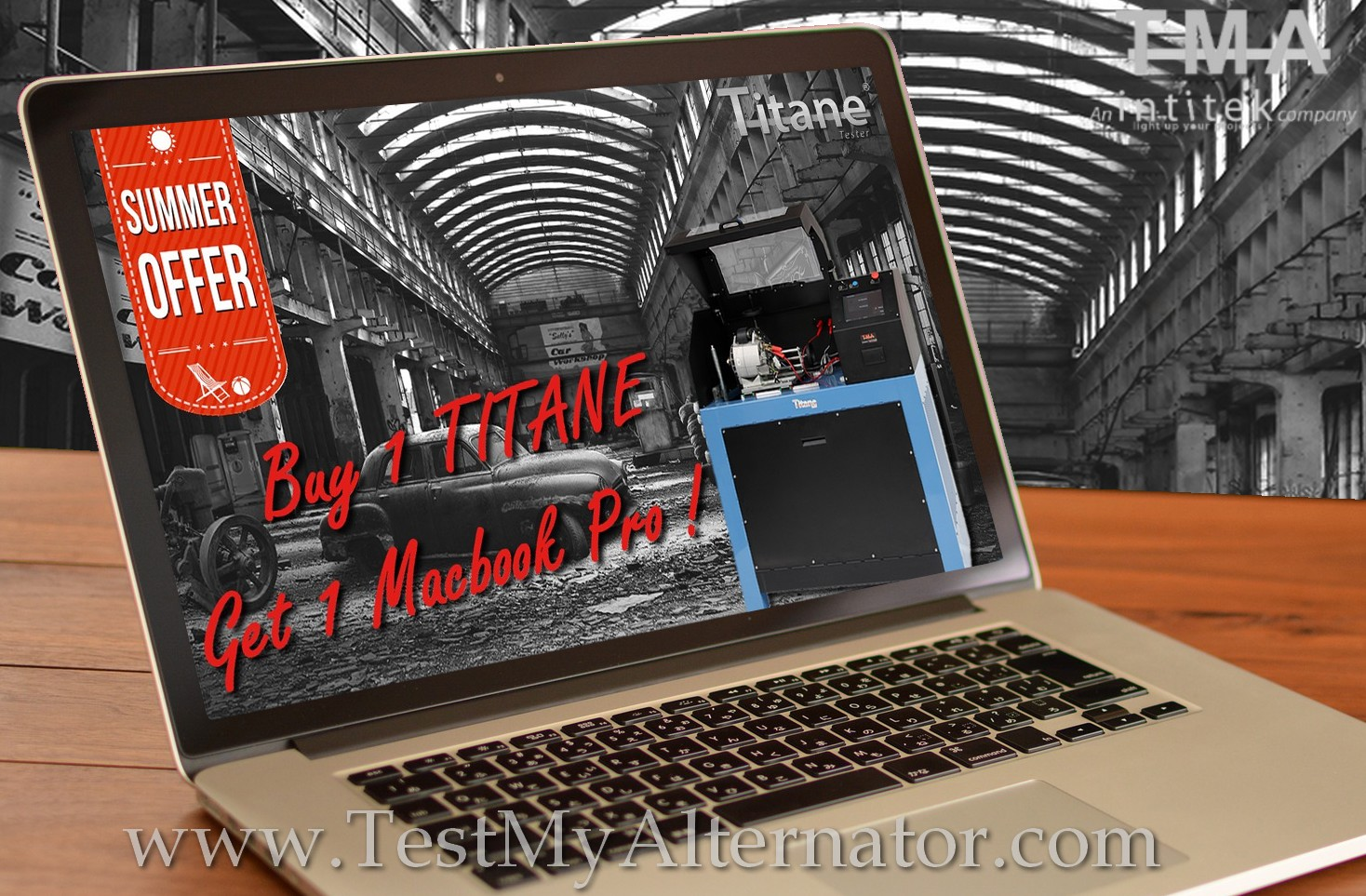 Buy TITANE get MacBookPro TMA